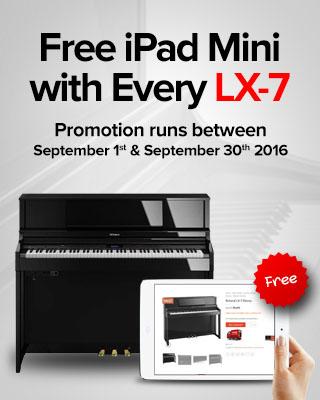 Free iPad Mini with Every Roland LX-7